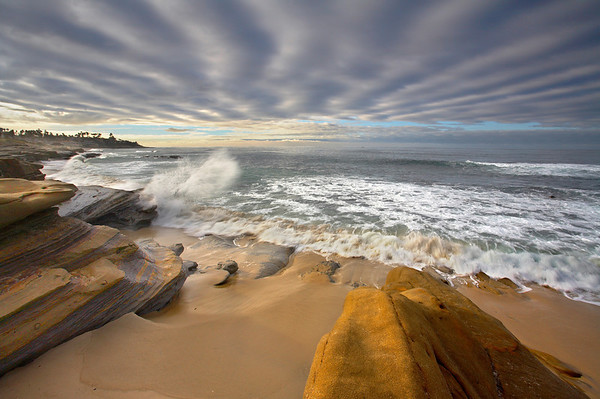 Sandstone and Sky #1 - La Jolla, California